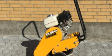 EuroShatal 67kg benzin pladevibrator 200kr. pr. døgn